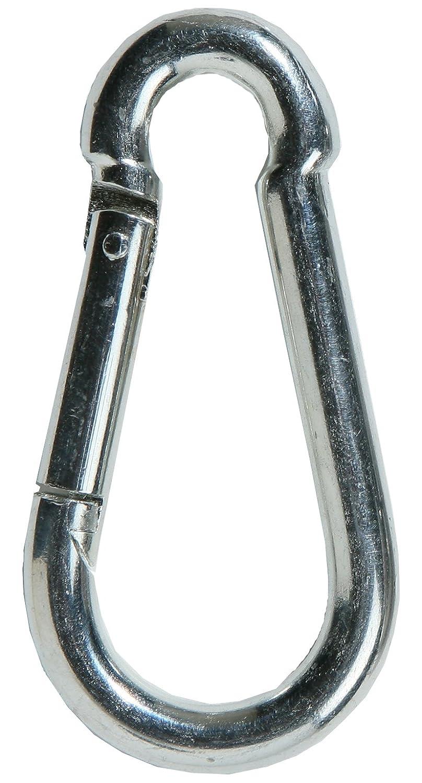SBS mousquetons en acier galvanisé 4x 40mm–Lot de 20–Argent | Mousqueton DIN 5299| Mousqueton pompier