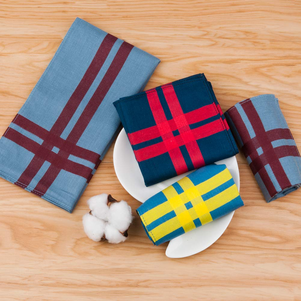 per uso quotidiano regalo di Natale 43 x 43 cm in puro cotone HOULIFE Panni tascabili da uomo 6//12 pezzi 3 colori