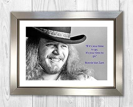 ffc24217c Engravia Digital Ronnie Van Zant Lynyrd Skynyrd (2) Poster Signed Autograph  Reproduction Photo A4 Print (Silver Frame)