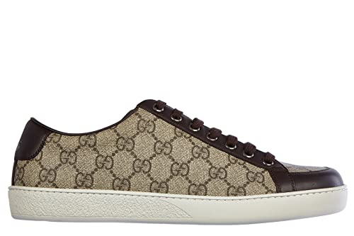 Gucci Herrenschuhe Herren Leder Schuhe Sneakers Neu supr - Zapatillas de piel para hombre Marrón marrón, color Marrón, talla 41 EU: Amazon.es: Zapatos y ...