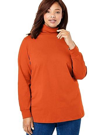 fd9d477197e0 Woman Within Women's Plus Size Perfect Long Sleeve Turtleneck