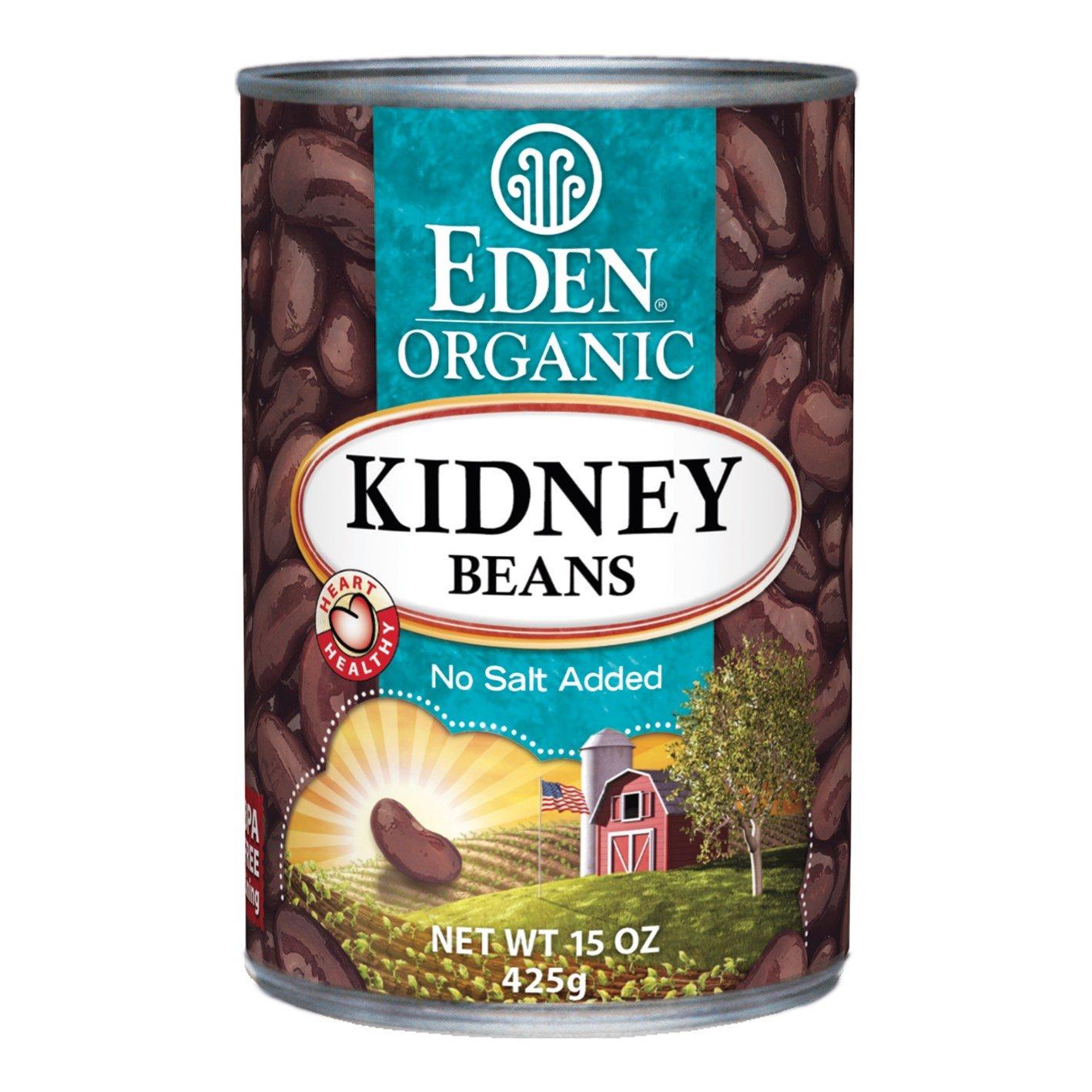 Eden Organic Kidney Beans, No Salt Added, 15-Ounce Cans (Pack of 12)