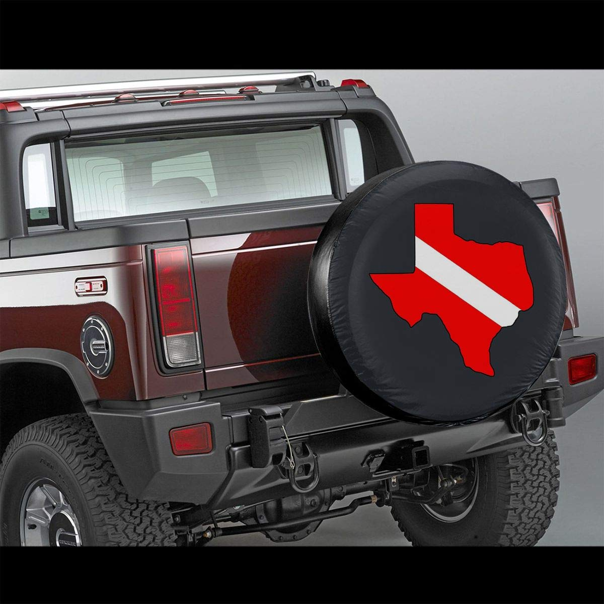 SUV and Various Vehicles 14 15 16 17 RV Blirh Dive Flag Texas Outline Universal Spare Wheel Tire Cover Fit for Trailer