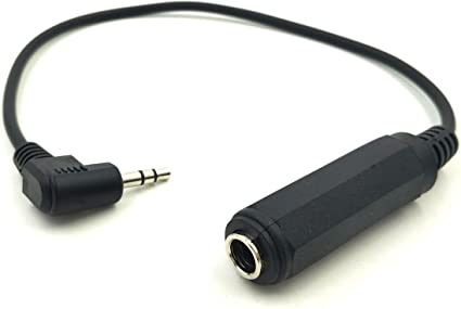 2Pack Audio 3.5mm Male to 6.35mm Female Stereo Connector,1//8 Inch Plug M to 1//4 Inch Jack F Adapter