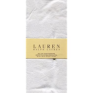 Ralph Lauren Paisley Suite White Set of Four Cloth Napkins