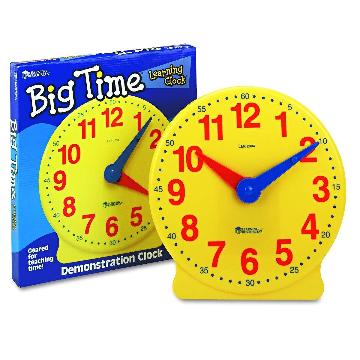 Learning Resources Big Time 12-Hour Demonstration Learning Clock LER2094
