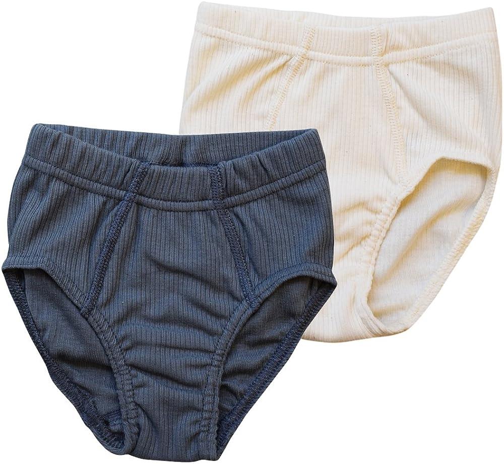 Boys Sport Briefs Underwear for Sensitive Skin, Organic Cotton, 2-Pack