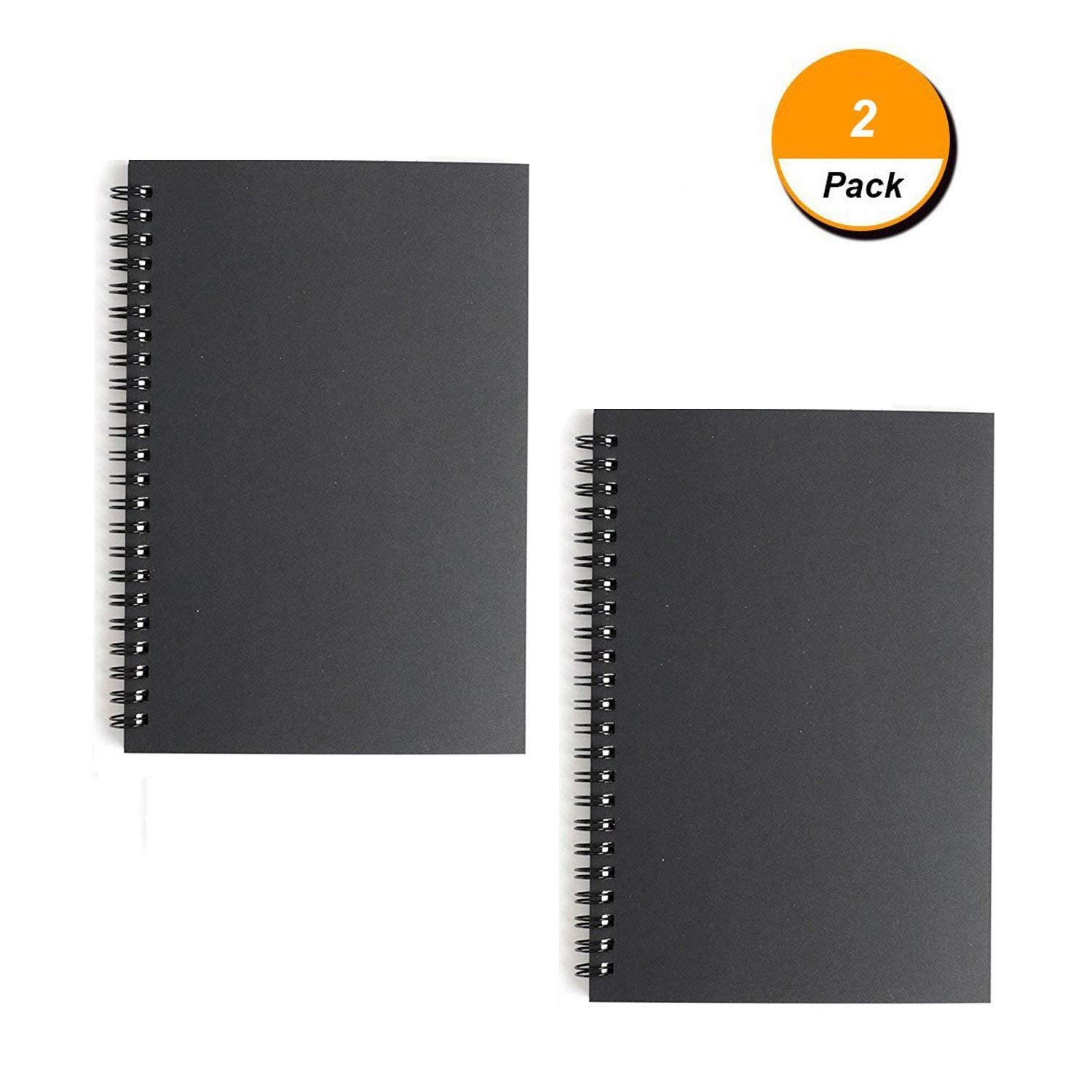 XYTMY (Set of 2) Soft Cover Notebook Spiral Notebook/Spiral Journal, Lined Pages, 2 Notebooks per Pack/Total 120 Sheets (240 Pages)-A5,5.78 x 8.26 5.78 x 8.26