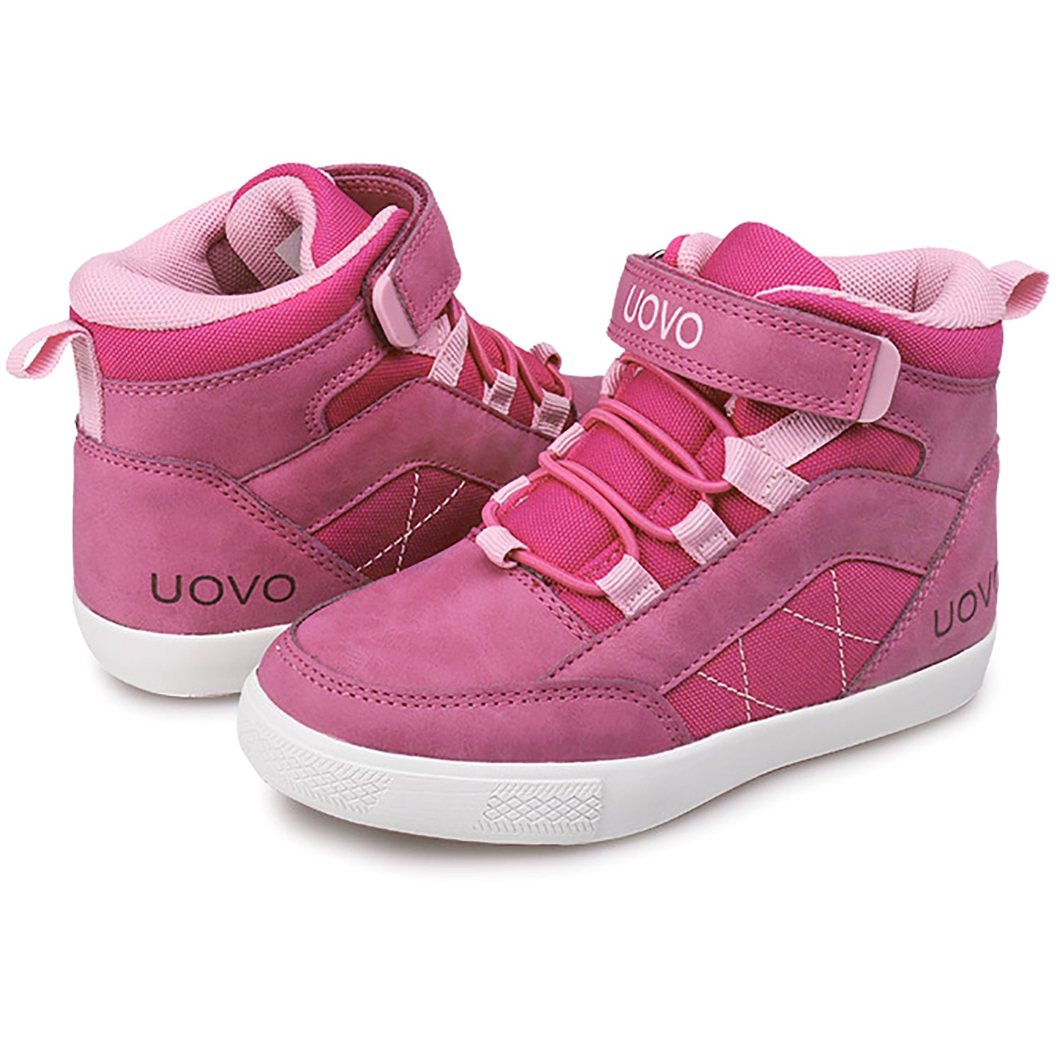 UBELLA Kids Girls Boys Waterproof Leather Strap Casual Flats Sneakers Shoes