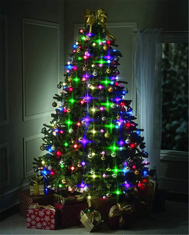 Christmas Tree Light Garland, Christmas Decoration, Multicolor Hanging  Lights Indoor Party Garden Patio Bedroom Wedding Decor (10 LED)