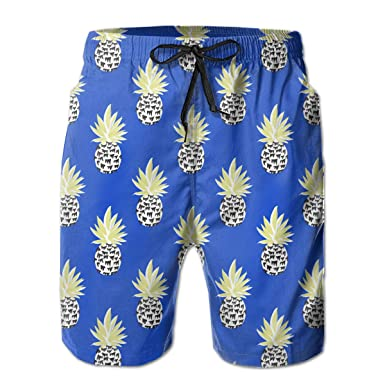 097b793a26 Amazon.com: Blue Pineapple Men's Summer Casual Drawstring Shorts  Quick-Drying Beach Shorts Swim Trunks Surf Board Pants Shorts: Clothing