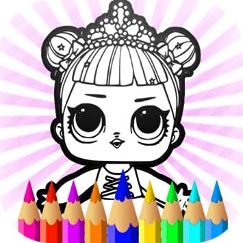 Amazon Com Surprise Dolls Coloring Pages Lol Cartoons Kids