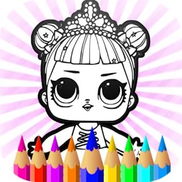 Amazoncom Surprise Dolls Coloring Pages Lol Cartoons Kids - Cartoons-images-for-kids