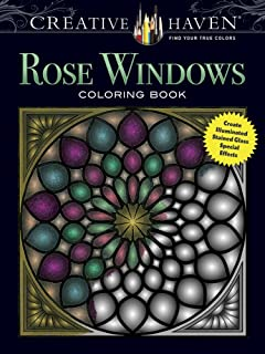Creative Haven Tiffany Designs Stained Glass Coloring Book (Adult ...