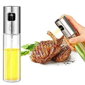 Oil Sprayer,Olive Oil Spray Bottle Oil Dispenser Vinegar Bottle for Kitchen Cooking/Frying/Salad/Baking/BBQ