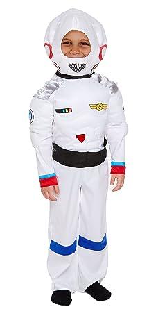 Astronaut Boys Fancy Dress Spaceman Uniform Kids World Book Day Childs Costume
