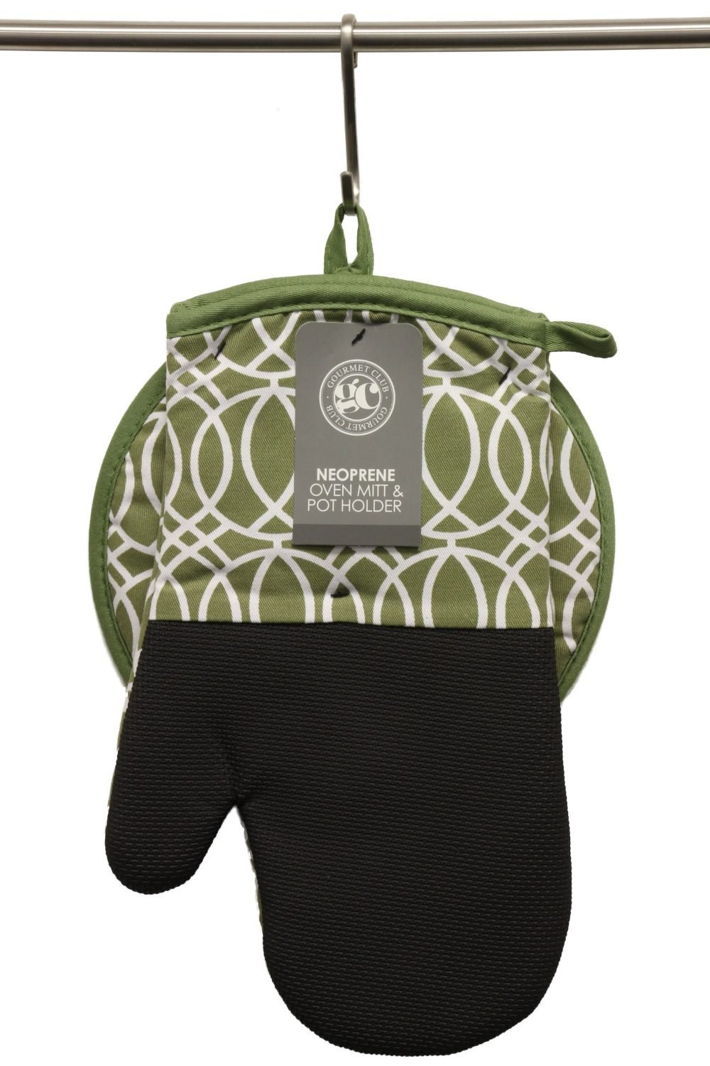 Oven Mitt and Potholder Set - Pot Holders and Oven Mitts Protect Hands and Surfaces - Kitchen Essentials Ideal for Cooking, Baking - Heat Resistant to 500F - Cotton w/Neoprene Silicone for Easy Grip