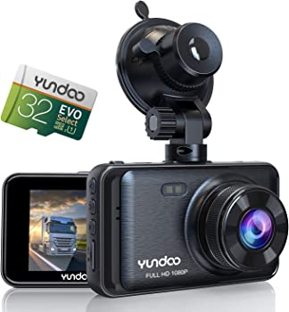Yundoo Full HD 1080P Dash Cam with Contain 32GB SD Card