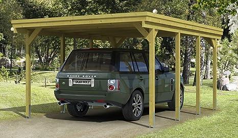 Skan Lausitz - Carport de madera (373 x 550 cm): Amazon.es ...