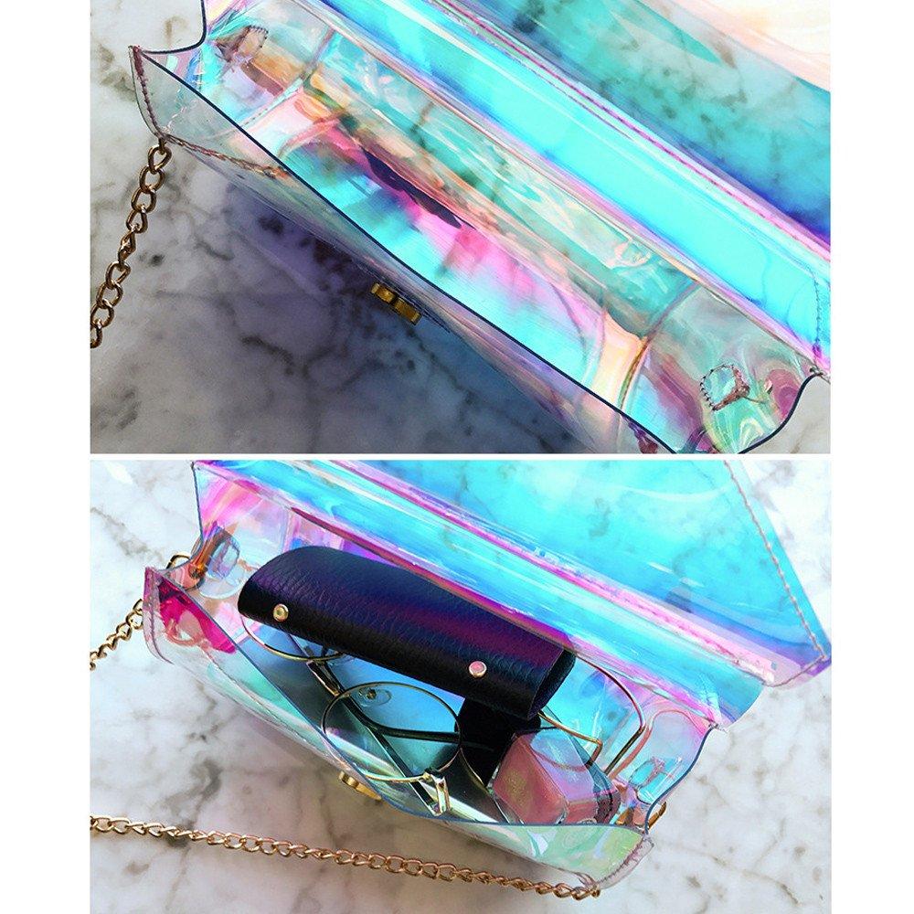 f8727e2fb BUIMIN Bolso 1pc Bolsillo Protátil Bandolera Material PVC Juveniles Barato  De Hombro De Moda Bolsa De Mano de Mini Para Mujer (multicolor): Amazon.es:  ...