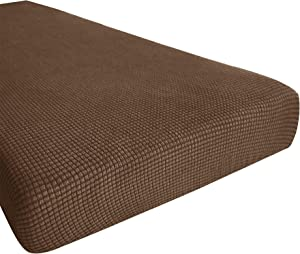 Hokway Stretch Couch Cushion Replacement Slipcovers Reversible Cushion Slipcovers Sofa Cushion Covers(Coffee, Medium)