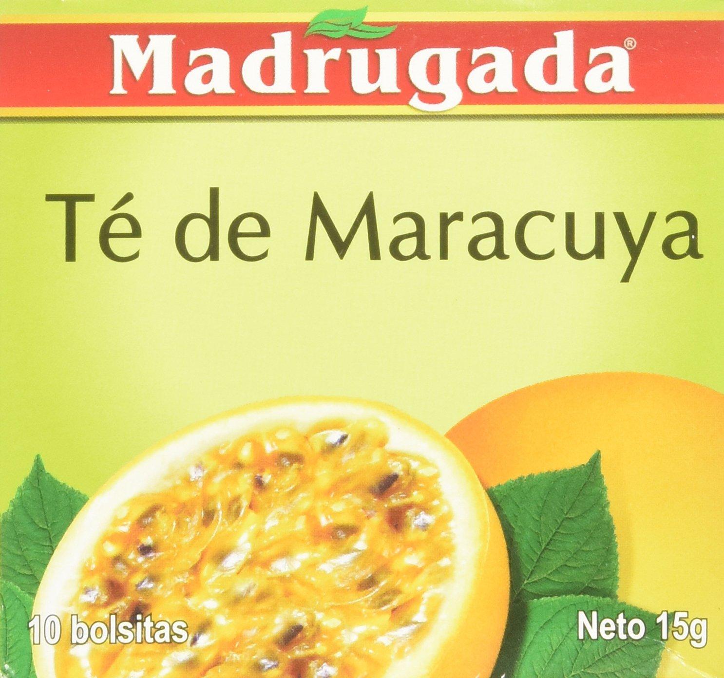 Passion Fruit Tea 10 tea bags - Chá de Maracujá 10 sachês - Madrugada - 0.5oz (15g) GLUTEN FREE - (PACK OF 04) by Madrugada (Image #6)