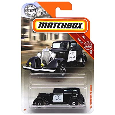 Matchbox 2020 MBX Rescue '33 Plymouth PC Sedan 45/100, Black: Toys & Games