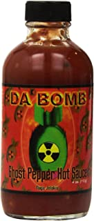 product image for Da Bomb - Ghost Pepper - Original Hot Sauce - 22,800 Scovilles - 4oz Bottles Made in USA with Habanero & Jolokia Peppers- Non-GMO, Gluten Free, Sugar Free, Keto - Pack of 1