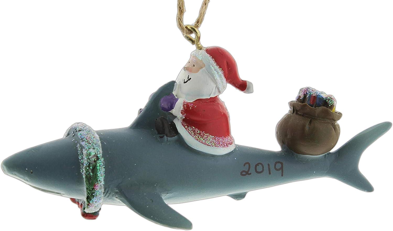 Cape Shore Santa Riding Shark Ornament (2019)