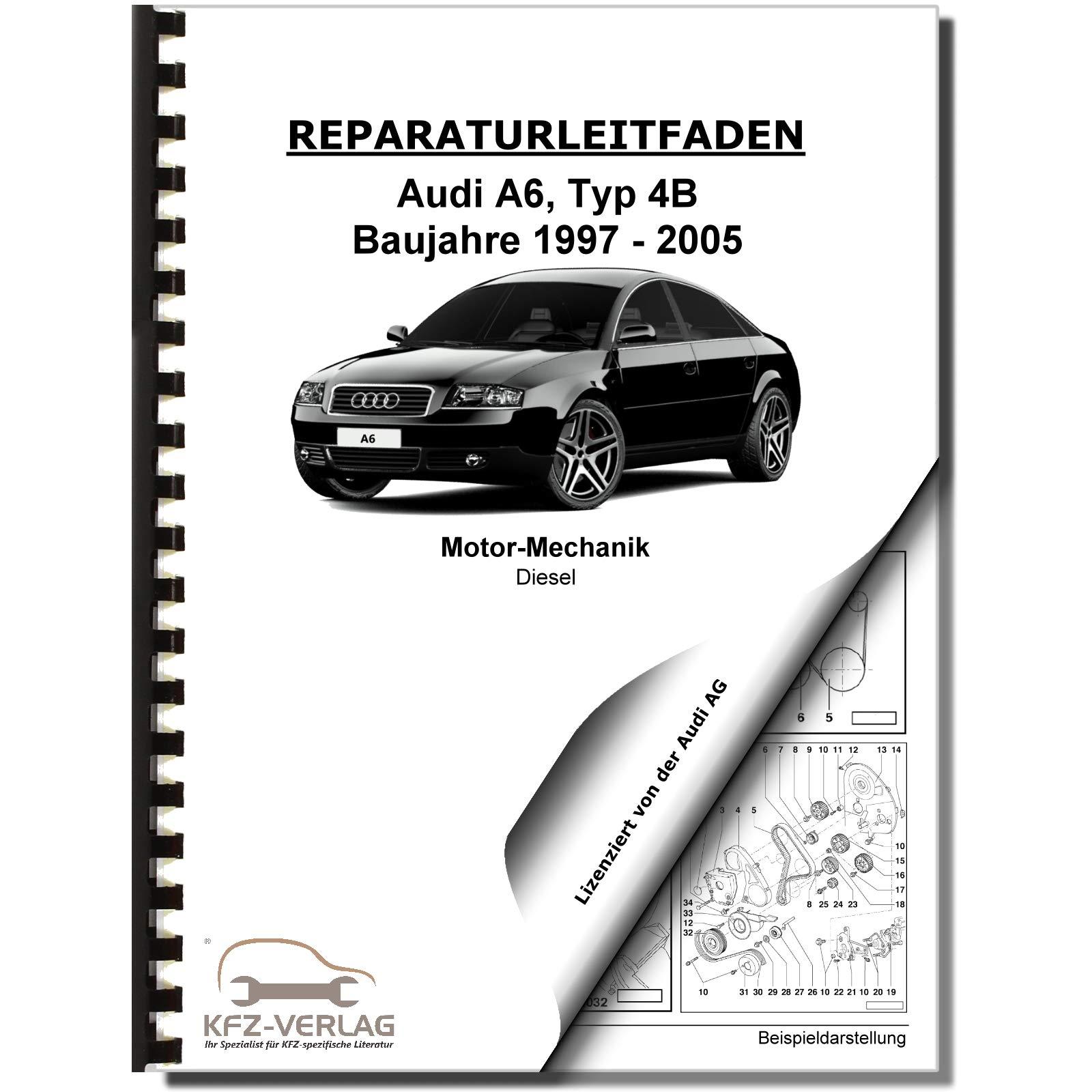 Audi A6 4b 97 05 6 Zyl 2 5l 2 8l Dieselmotor Tdi 150 180ps Reparaturanleitung Audi Ag Bücher