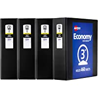 Deals on 4PK Avery Economy View Binders 3-in Round Rings 460-Sheet