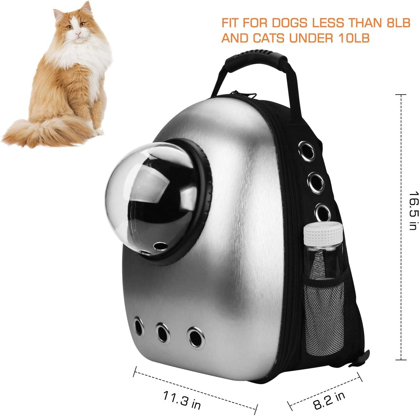 AntTech Breathable Pet Travel Backpack Space Capsule Carrier Bag Hiking Bubble Backpack for Cat /& Dog Puppy