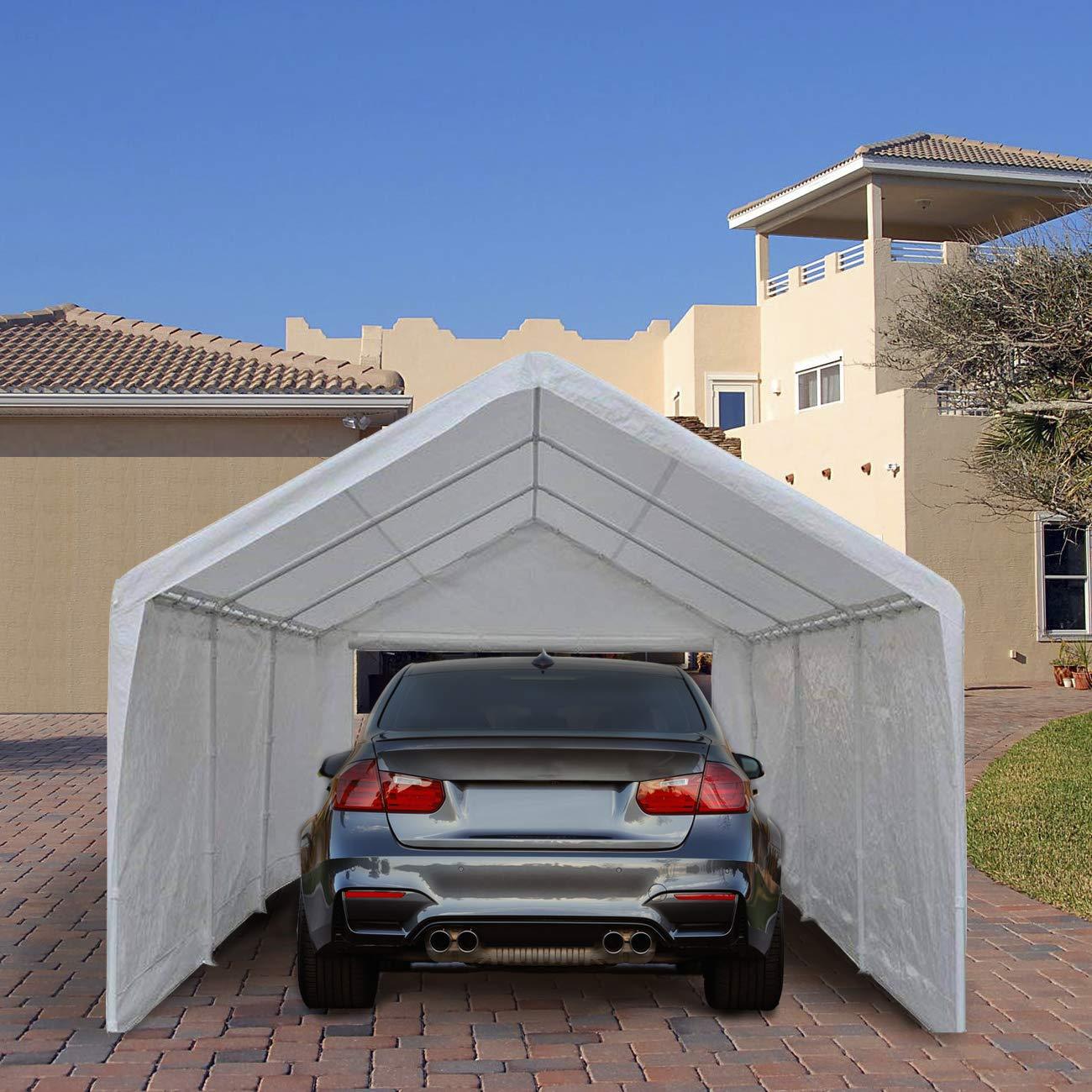 Abba Patio 12 x 20-Feet Heavy Duty Carport, Car Canopy ...