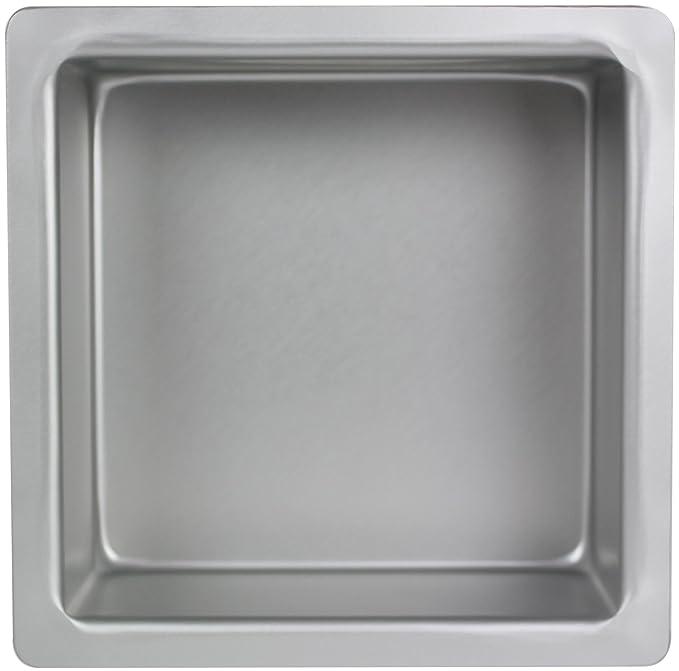 PME Molde para Pasteles Cuadrado de Aluminio Anodizado Profundidad DE 12 x 12 x 4-Pulgadas: Amazon.es: Hogar