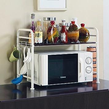 Muebles De Cocina Cocina Microondas Estanterías Estanterías Planos Abajo  Aviones Doble   Decked Electrodomésticos Especias Acero Inoxidable Marco De  Acero ...