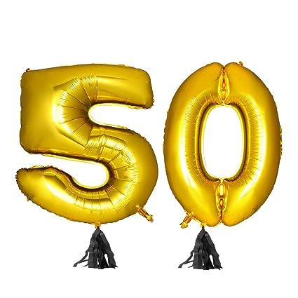 TOYMYTOY 40 Pulgadas Número Dorado 50th Globo Party Festival ...