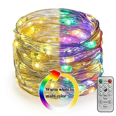 Koopower Outdoor String Light, 8 Mode 100 LED Fairy String Light for Christmas Decoration : Garden & Outdoor