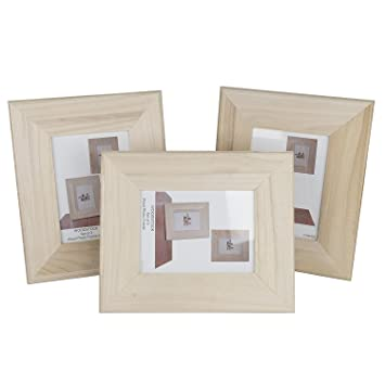 Amazoncom Unfinished Solid Wood Photo Picture Frames Ready To