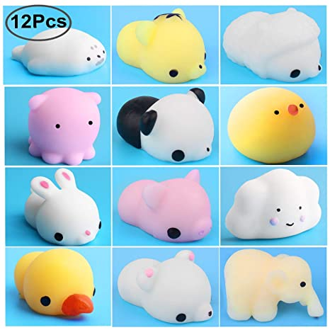 Outee Mini Squishies, 12 PCS Squishies Lento Levantamiento Suave Squishy Juguetes Kawaii Animal Squishy Mini