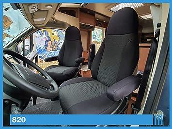 Bremer SitzbezÜge Maß Sitzbezüge Kompatibel Mit Wohnmobil Fahrer Beifahrer Schwarz 820 Auto