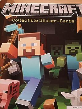 Minecraft Juego de 9 paquetes de tarjetas adhesivas: Amazon.es: Juguetes y juegos