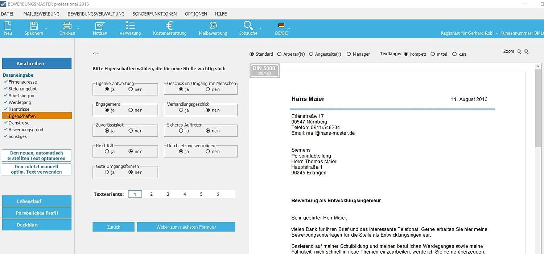 BEWERBUNGSMASTER professional 2019 CD (Windows) // Erfolgreiche Bewerbung  schreiben - Lebenslauf, Anschreiben, Profil, Deckblatt - Mailbewerbung:  Amazon.de: ...