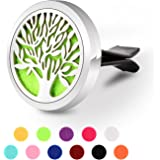 Aromatherapy Car Diffuser, GerTong Vent Clip Essential Oil Diffuser for Car Air Freshener, 11 Refill Pads (Tree)