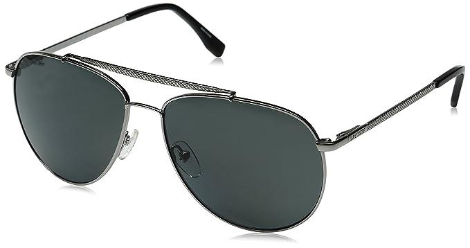 a88c34b8b4 Lacoste Men s L177SP Polarized Aviator Sunglasses
