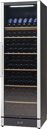 Vestfrost Beverage Cooler/Wine Cooler, 191-Bottles, Multi-Temperature Settings, Full Glass Wine Cabinet, W185Black - 1 Year Warranty