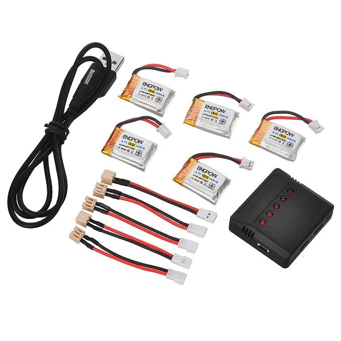 SYMTOP Baterías Lipo Engpow 3.7V 150Mah para JJRC H36 Eachine E010 ...