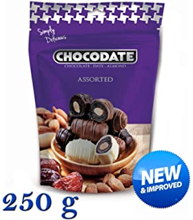 250 g Chocodate - Surtido de Dátiles de chocolate con almendras