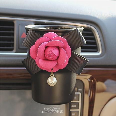 QIYUEQI 12*9cm de plástico rosa Flores Rojas ambientalmente ...