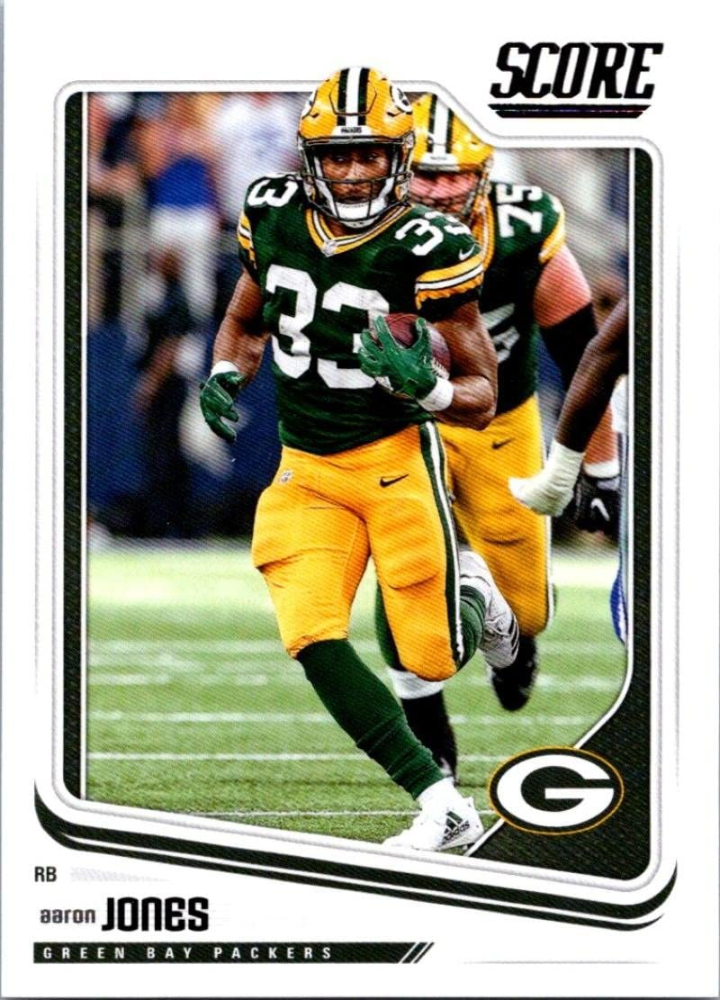 Amazon Com 2018 Score 116 Aaron Jones Green Bay Packers Football Card Collectibles Fine Art