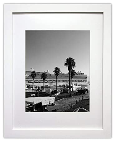 Amazoncom Golden State Art 11x14 White Photo Wood Frame With Mat